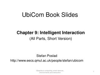 UbiCom Book Slides