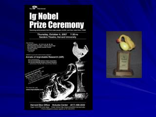 The 2007 Ig Nobel Prize Winners
