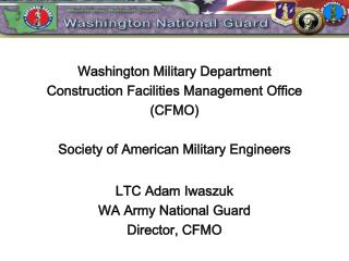 Washington Military Department Construction Facilities Management Office (CFMO)