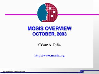 MOSIS OVERVIEW OCTOBER, 2003