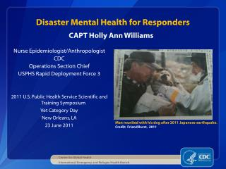 Disaster Mental Health for Responders