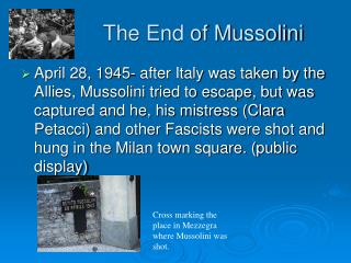 The End of Mussolini