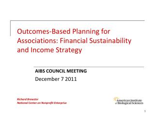 Outcomes-Based Planning for Associations: Financial Sustainability and Income Strategy