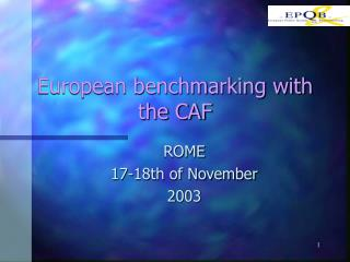 European benchmarking with the CAF