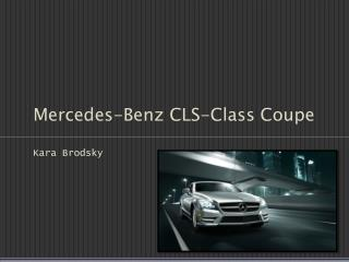 Mercedes-Benz CLS-Class Coupe