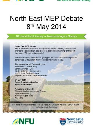 North East MEP Debate 8 th  May 2014