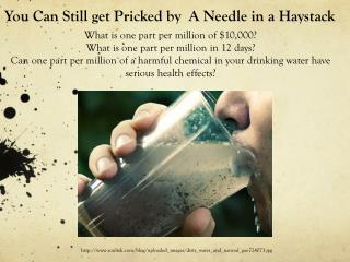 You Can Still get Pricked by  A Needle in a Haystack
