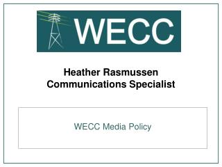 Heather Rasmussen Communications Specialist