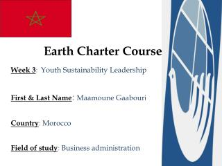 Earth  Charter Course