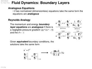 Fluid Dynamics: Boundary Layers