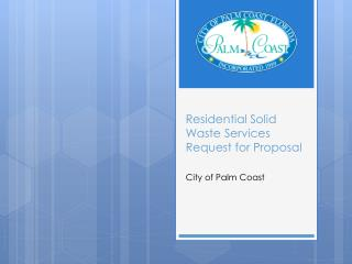 Residential Solid Waste Services Request for Proposal