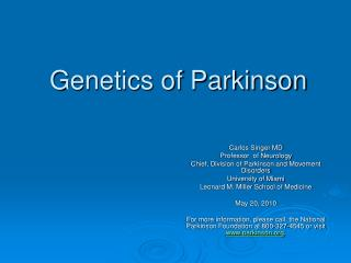 Genetics of Parkinson
