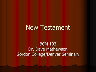 New Testament