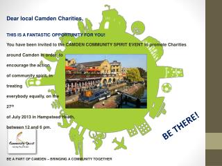BE A PART OF CAMDEN – BRINGING A COMMUNITY TOGETHER