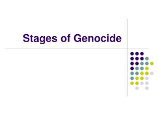 Stages of Genocide