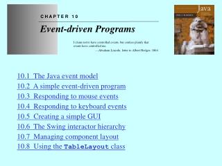 Chapter 10—Event-driven Programs
