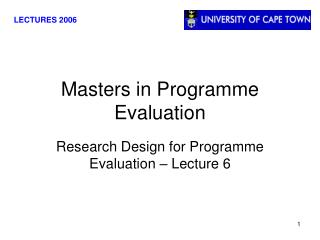 Masters in Programme Evaluation