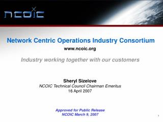 Network Centric Operations Industry Consortium ncoic