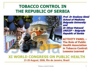 TOBACCO CONTROL IN  THE REPUBLIC OF SERBIA