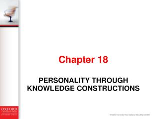 Personality through knowledge constructions