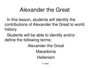 the incredible contribution and characteristics of alexander the great Alexander the great stated that subatomic particles move at an incredible contribution alexander of the hellenistic.