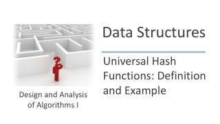 Universal Hash Functions: Definition and Example