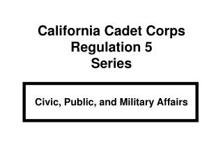 Civic, Public, and Military Affairs