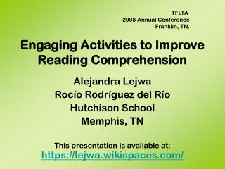 Engaging Activities to Improve Reading Comprehension