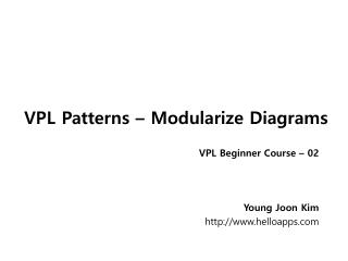 VPL Patterns – Modularize Diagrams