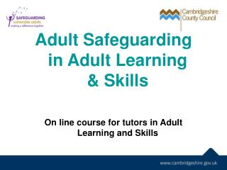 Adult Safeguarding in Adult Learning       & Skills
