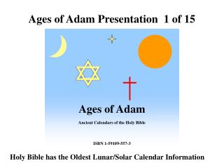 Ages of Adam Presentation  1 of 15