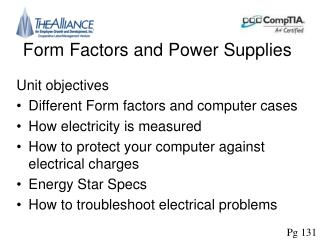 Form Factors and Power Supplies