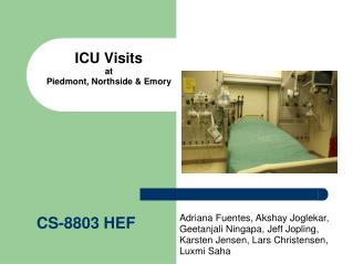 ICU Visits at  Piedmont, Northside & Emory