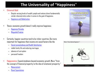 "The Universality of ""Happiness """