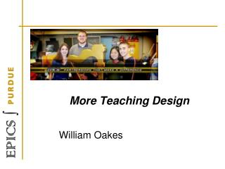 More Teaching Design