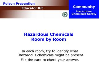 Hazardous Chemicals  Room by Room