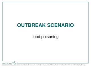 OUTBREAK SCENARIO food poisoning