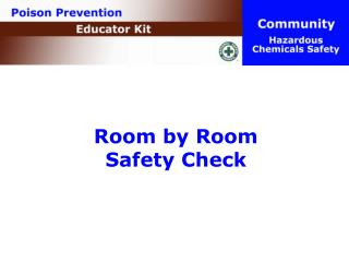 Room by Room  Safety Check