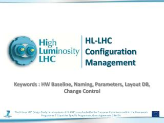 HL-LHC  Configuration Management