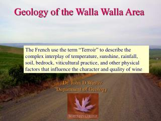 Geology of the Walla Walla Area