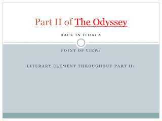 Part II of  The Odyssey
