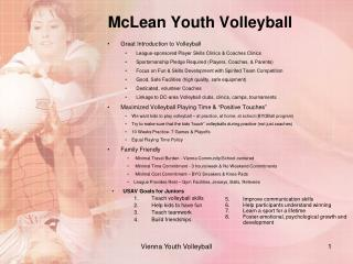 McLean Youth  Volleyball