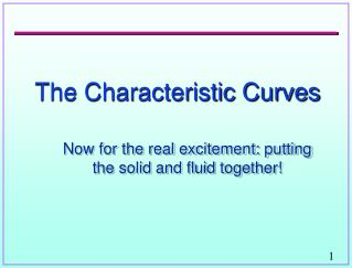 The Characteristic Curves
