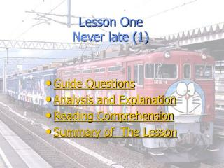 Lesson One Never late (1)