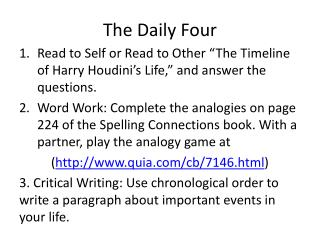 The Daily Four