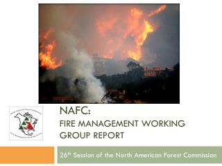 NAFC:  Fire Management Working Group Report