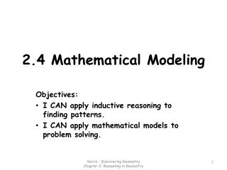 2.4 Mathematical Modeling