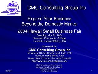 CMC Consulting Group Inc