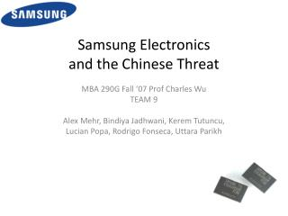 Samsung Electronics and the Chinese Threat