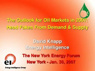 The Outlook for Oil Markets in 2007: Head Fakes From Demand & Supply
